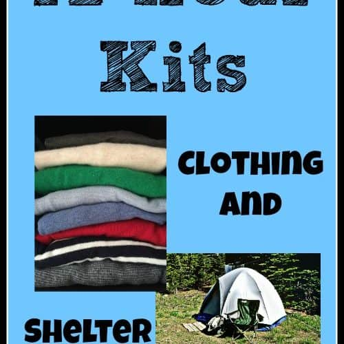 72 Hour kits need clothing and shelter. Get ideas in this post |PreparednessMama
