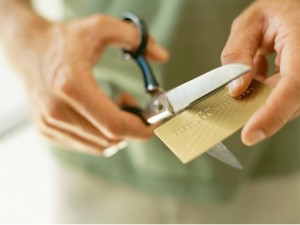Cut up your credit cards for financial preparedness and freedom