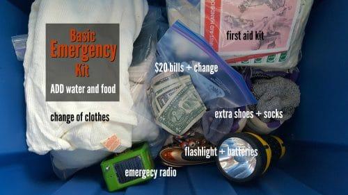 The basic emergency kit | PreparednessMama