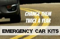 Make emergency car kits for every vehicle and change them twice a year | PreparednessMama