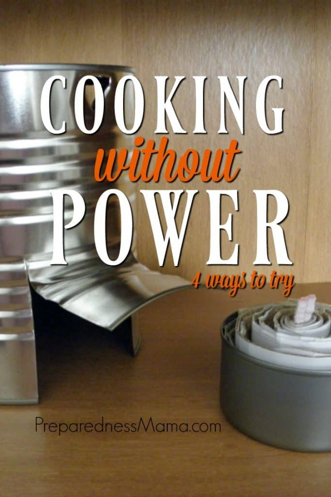 Going without power because of a natural disaster can be stressful. There are steps you can take to plan for the next storm and one of these is to set up a system for emergency cooking | PreparednessMama