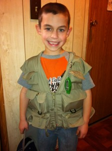 Use a fishing Vest to make a 72-hour kit for kids | PreparednessMama