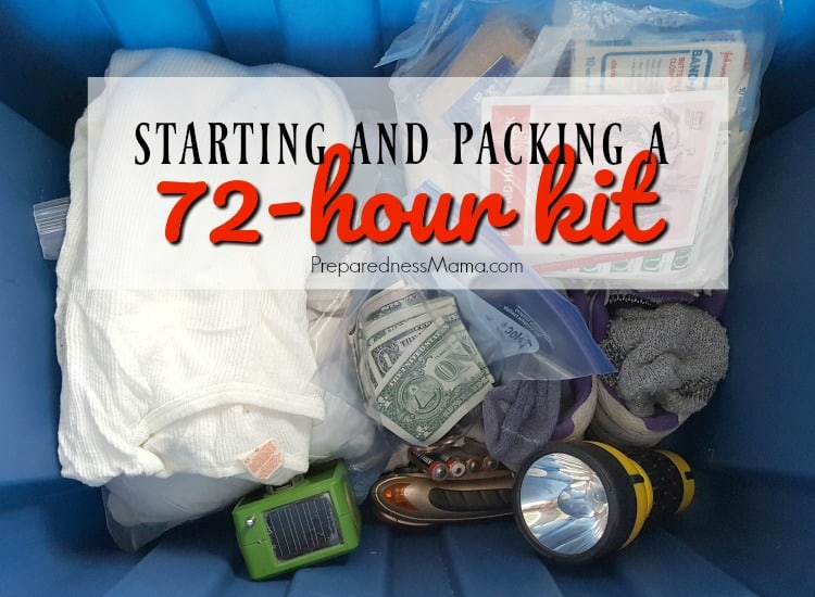 Starting Your 72-hour Kits + How to Store Them