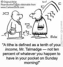 Tithing is 10%