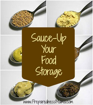 Add variety to your food storage - sauce it up | PreparednessMama