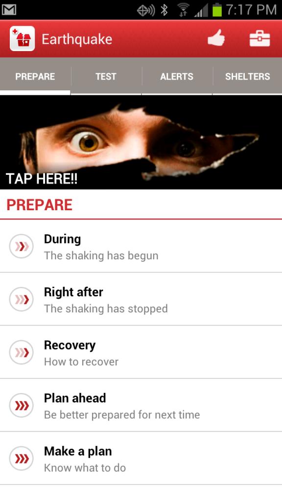 Earthquake Red Cross App | PreparednessMama