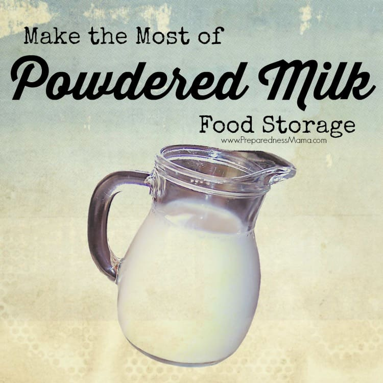 Make the most of your powdered milk food storage. Use Powdered milk in your long term food storage | PreparednessMama