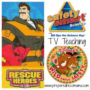 TV fire safety collage
