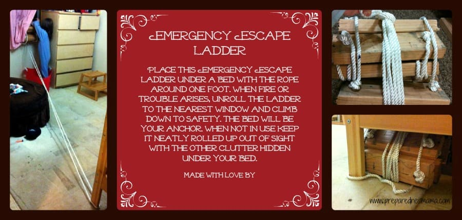 emergency escape ladder instructions