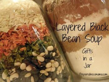 Black Bean Soup in a mason jar