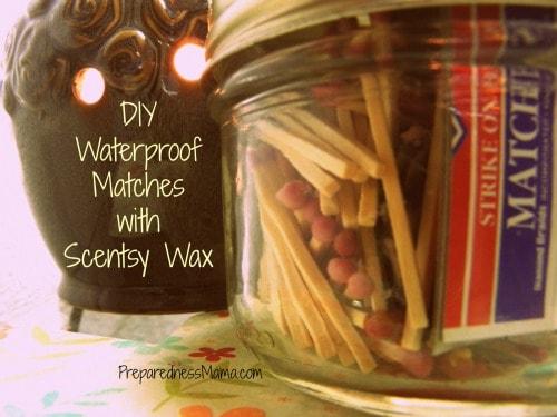 DIY waterproof matches | PreparednessMama