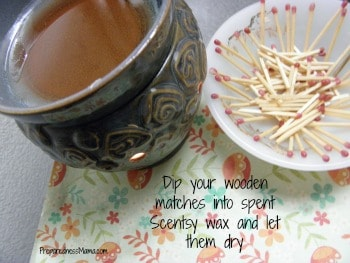 Dip your wooden matches into wax