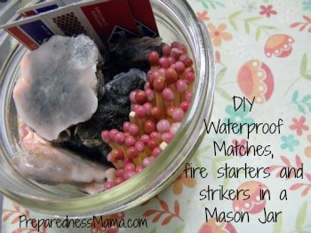 Make DIY waterproof matches