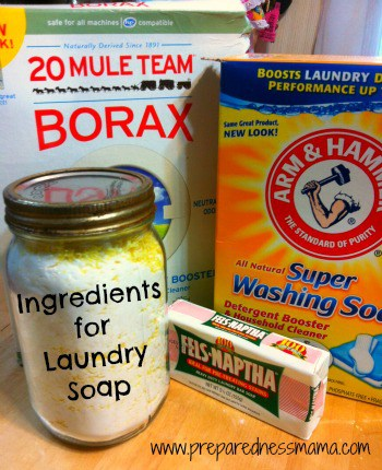 Ingredients for DIY Laundry Soap | PreparednessMama