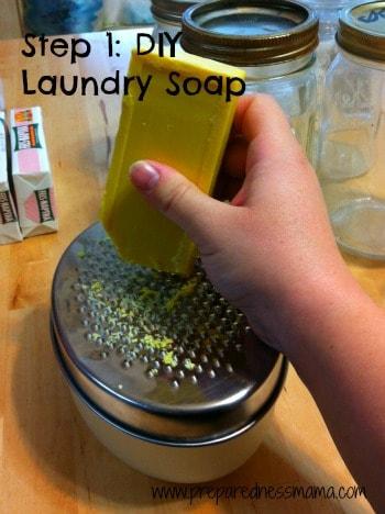 DIY Laundry Soap Step 1