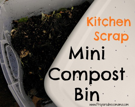 Finally, an easy way to compost your kitchen scraps - make a Mini Compost bin | PreparednessMama