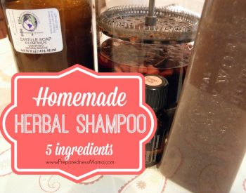 Herbal Homemade Shampoo with 5 simple ingredients | PreaprednessMama