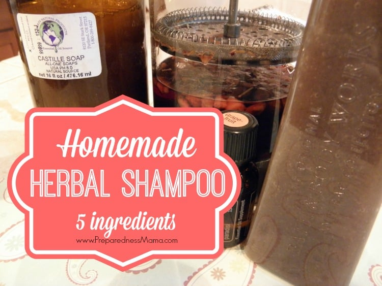 Make Your Own Homemade Shampoo| PreparednessMama