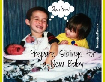 prepare siblings for a new baby