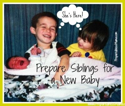 prepare siblings for new baby