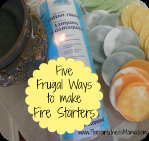 Make DIY Fire Starters - 5 Frugal & Easy Ways   PreparednessMama