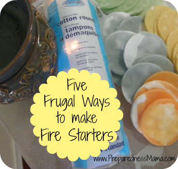 Make DIY Fire Starters - 5 Frugal & Easy Ways | PreparednessMama