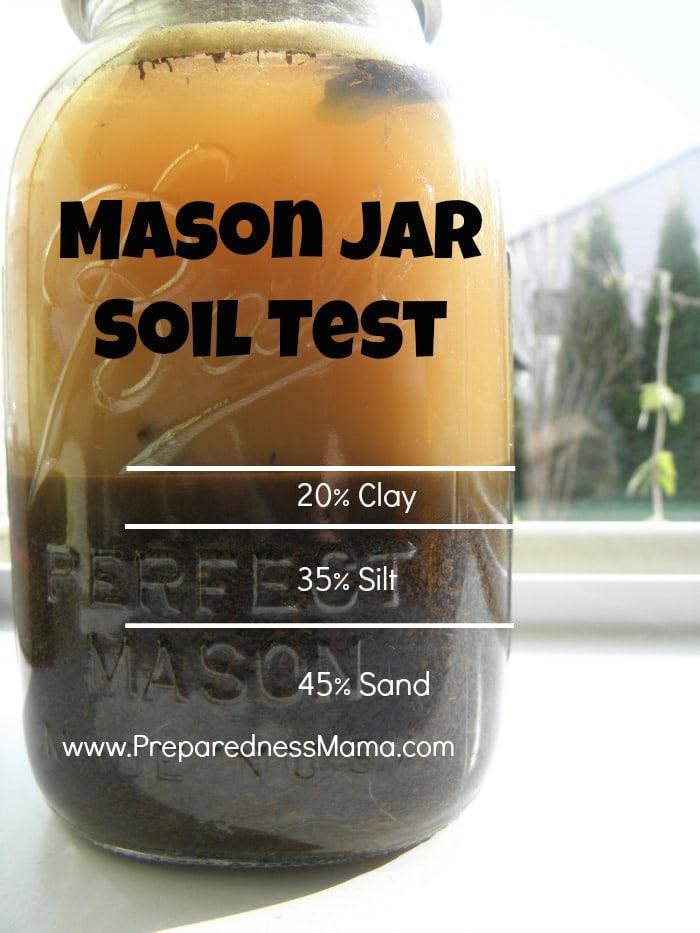 Mason Jar Soil Test Spring Garden Primer