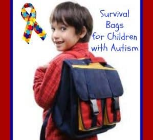Survival bags for children with Autism