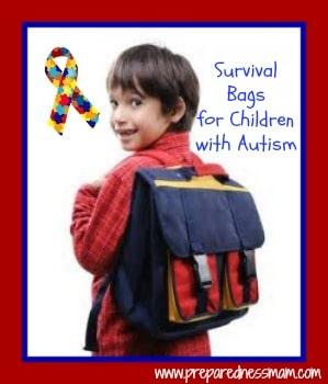 Survival bags for children with Autism | PreparednessMama