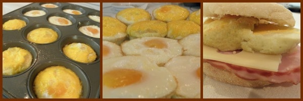 reserve Eggs by baking them in muffin pans and then making breakfast sandwiches. They freeze wonerfully | PReparednessMama