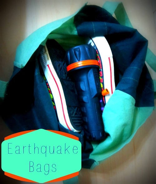 Earthquake Bags – Put Them Together with Four Easy Items You Already Have on Hand