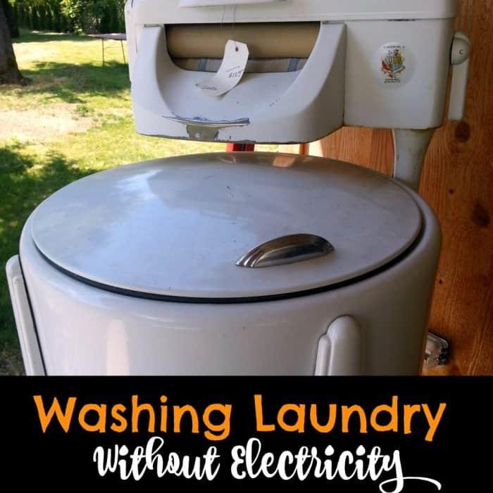 Washing laundry without electricity | PreparednessMama