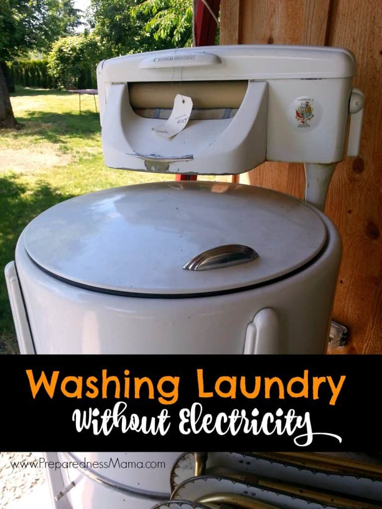 Washing laundry without electricity | PreparednessMama