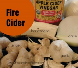 Fire cider cold remedy