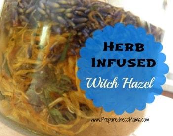 Herb infused witch hazel | PreparednessMama