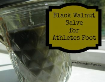 Apply black walnut salve liberally to athlete's foot and blisters. | PreparednessMama