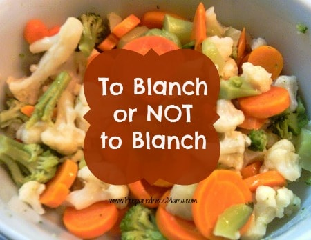 Use these rules whn you decide whether to blanch vegetables before freezing | PreparednessMama