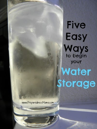 begin water storage