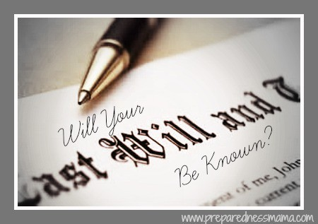 Will Your Will Be Known?