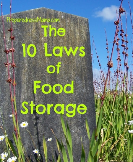 10 laws of food storage