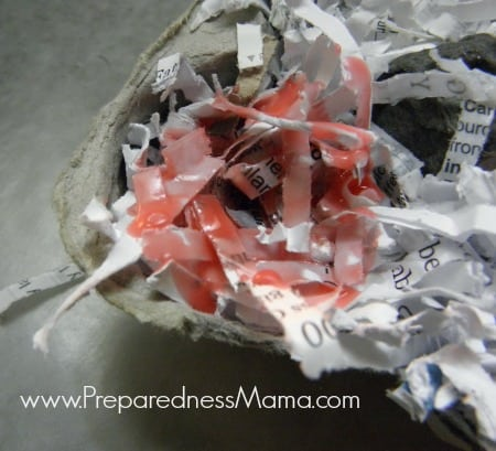 The Girl Scouts standby - egg carton, shredded paper and wax are one of the 5 ways to create DIY Fire Starters | PreparednessMama