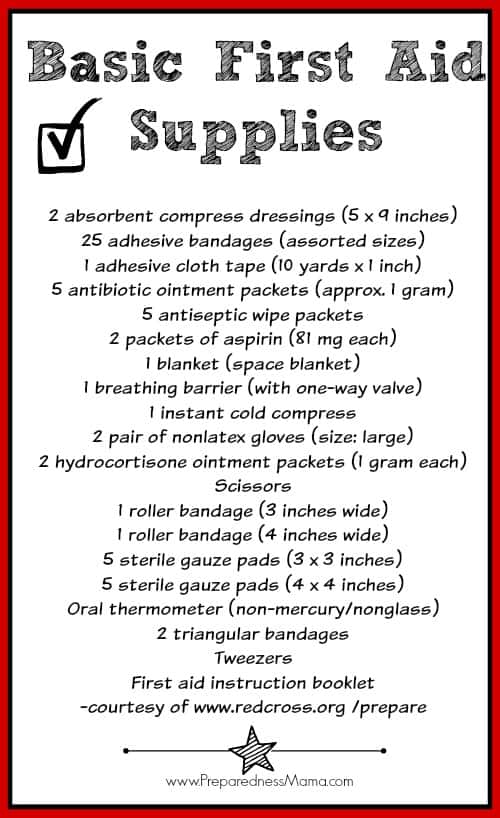 First Aid Kit: Beyond the Band-aid - Basic First Aid Kit Supplies | PreparednessMama