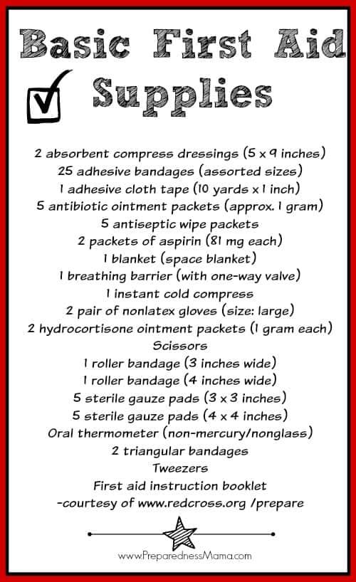 First Aid Kit: Beyond the Band-aid - Basic First Aid Kit Supplies | PreparednessMama