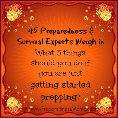 Getting Started Prepping – What Three Things Do You Need to Begin?