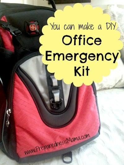 Make a DIY office emergency kit | PreparednessMama