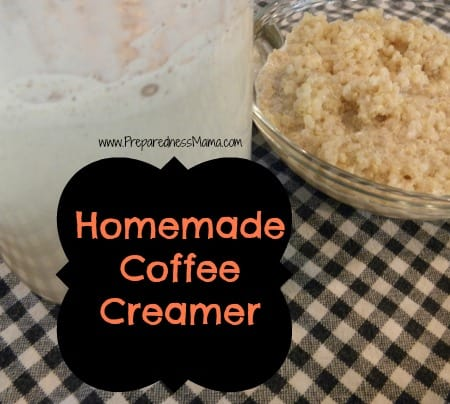Homemade coffee creamer | PreparednessMama