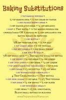 Baking substitutions download for inside your cupboard | PreparednessMama