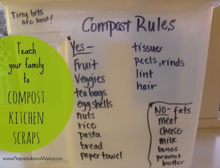 teach your family to compost kitchen scraps | PreparednessMama