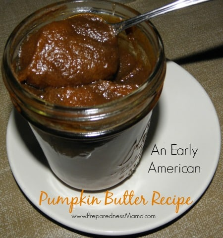 Early American Pumpkin Butter recipe | PreparednessMama