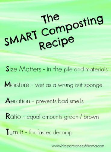 The SMART Composting Recipe | PreparednessMama